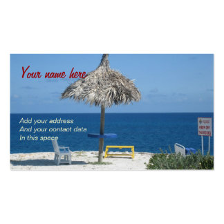 Caribbean beach Double-Sided standard business cards (Pack of 100)