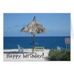 Caribbean beach greeting card