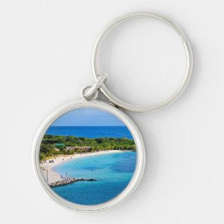 Caribbean Beach Keychain