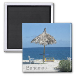 Caribbean beach 2 inch square magnet