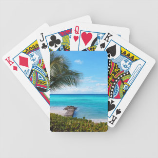 Caribbean Beach Bicycle Playing Cards