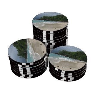 Caribbean Beach Poker Chip Set