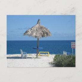 Caribbean beach postcard