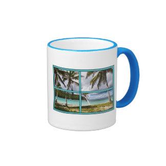 Caribbean Beach Ringer Mug