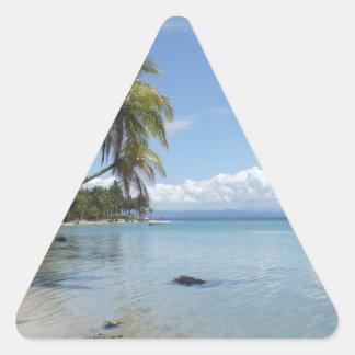 caribbean beach triangle sticker