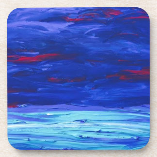 Caribbean Blue- Abstract Acrylic Painting Coaster
