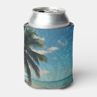 Caribbean Blue Can Cooler