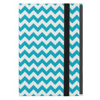 Caribbean Blue Chevron iPad Mini Case