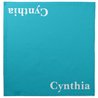 Caribbean Blue Customizable Cloth Napkin