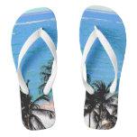 Caribbean Blue Flip Flops