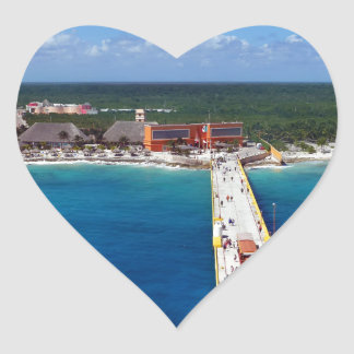 Caribbean Blues.JPG Heart Sticker