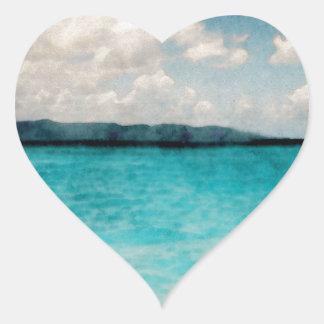 Caribbean British Virgin Islands Heart Sticker