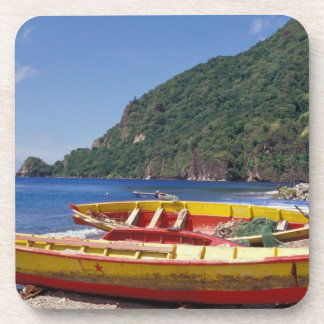 Caribbean, BWI, St. Lucia, Sailboats, Soufriere. Beverage Coaster