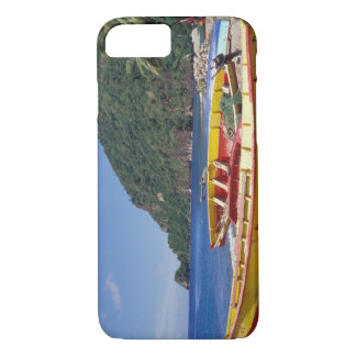 Caribbean, BWI, St. Lucia, Sailboats, Soufriere. iPhone 7 Case