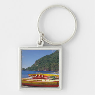 Caribbean, BWI, St. Lucia, Sailboats, Soufriere. Keychain