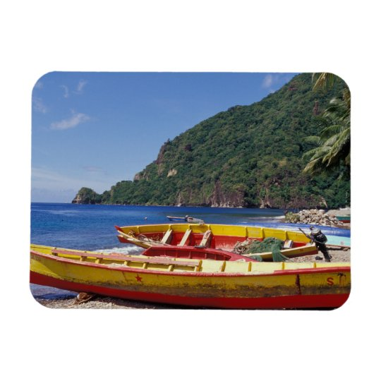 Caribbean, BWI, St. Lucia, Sailboats, Soufriere. Magnet