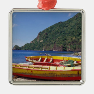 Caribbean, BWI, St. Lucia, Sailboats, Soufriere. Metal Ornament