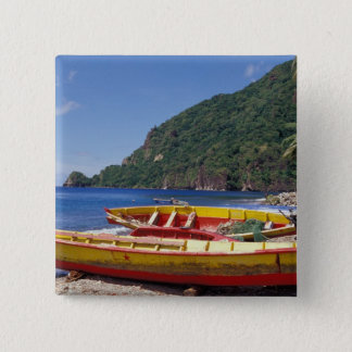 Caribbean, BWI, St. Lucia, Sailboats, Soufriere. Pinback Button