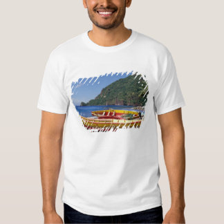 Caribbean, BWI, St. Lucia, Sailboats, Soufriere. T-shirts