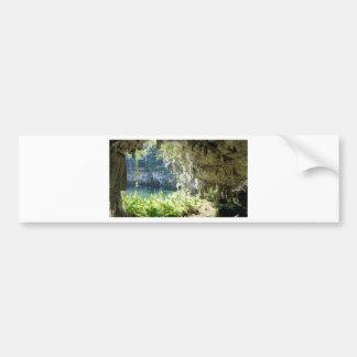 caribbean cave bumper sticker