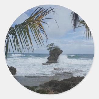 caribbean coast classic round sticker
