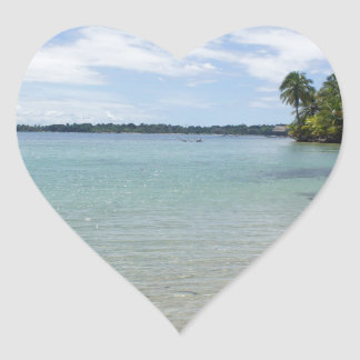 caribbean coast heart sticker
