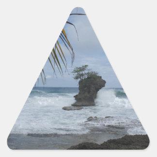 caribbean coast triangle sticker