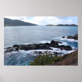 Caribbean coastline poster