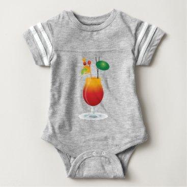 Beach Themed Caribbean Cocktail Baby Bodysuit