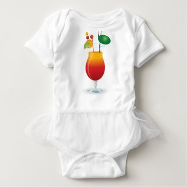 Beach Themed Caribbean Cocktail Baby Bodysuit