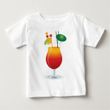 Beach Themed Caribbean Cocktail Baby T-Shirt