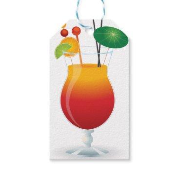 Beach Themed Caribbean Cocktail Gift Tags