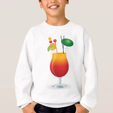 Beach Themed Caribbean Cocktail Sweatshirt