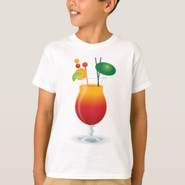 Beach Themed Caribbean Cocktail T-Shirt