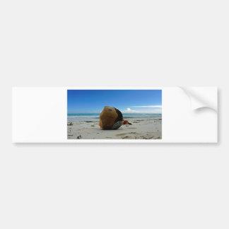 caribbean coconut car bumper sticker