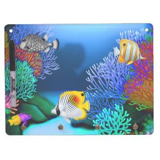 Caribbean Coral Reef Fish Dry Erase Board