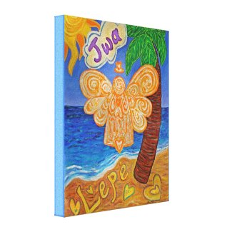 Caribbean Creole Angel Art Wrapped Canvas Painting