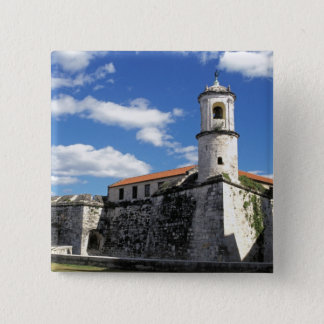 Caribbean, Cuba, Havana. Old Havana, Castillo Button