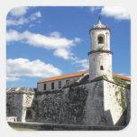 Caribbean, Cuba, Havana. Old Havana, Castillo Square Sticker