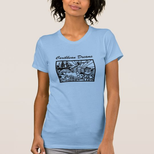Caribbean Dreams with Pirate Ship T-Shirt