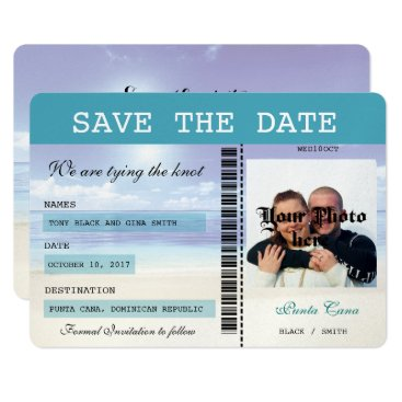 simply_rantastic Caribbean Dreamz  Boarding Pass Save the Date Card