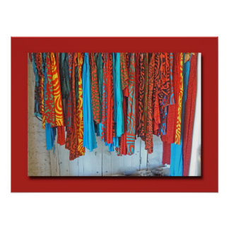 Caribbean Fabrics in Bright Colors Poster