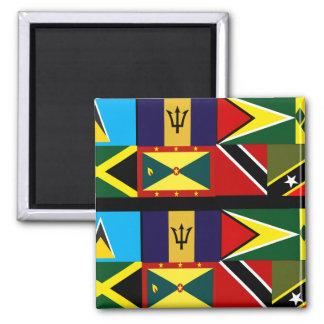 Caribbean flag magnets