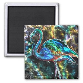 Caribbean Flamingo Digital Art Magnet