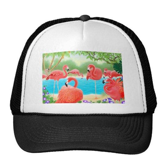 Caribbean Flamingos Trucker Hat