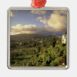 Caribbean, French West Indies, Martinique. Square Metal Christmas Ornament