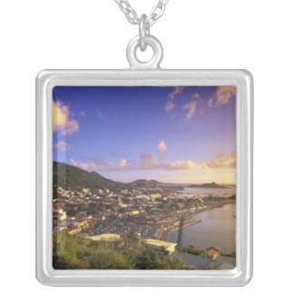 Caribbean, French West Indies, St. Martin. Silver Plated Necklace