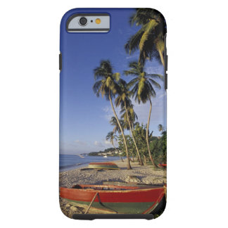 CARIBBEAN, Grenada, St. George, Boats on palm iPhone 6 Case