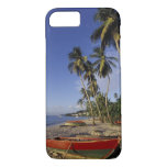 CARIBBEAN, Grenada, St. George, Boats on palm iPhone 7 Case