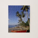 CARIBBEAN, Grenada, St. George, Boats on palm Jigsaw Puzzles
